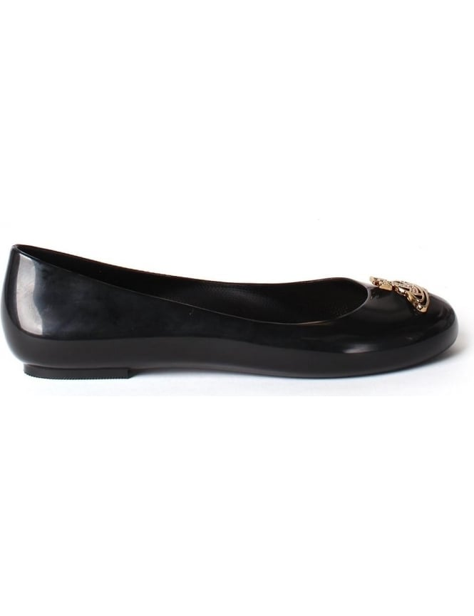 Melissa Divine Women's Orb Logo Detail Slip On Shoe Black