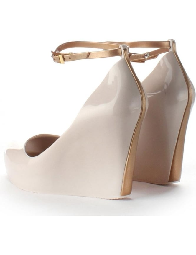 adbad821b0 Melissa Patchuli 14 Women's Ankle Strap Wedge Shoe Nude
