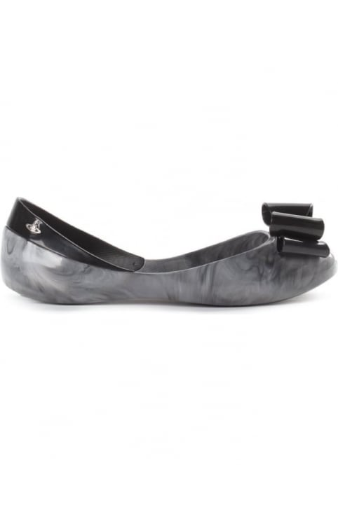 Queen Women's Slip On Shoes Smoke Marble Bow