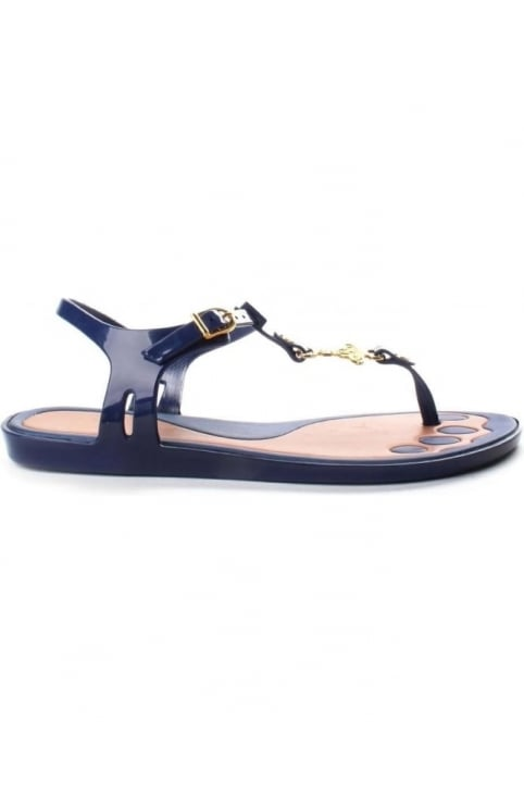 Solar Orb Women's Logo Sandals Navy