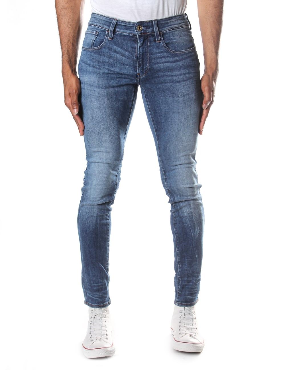 f6a8a6df6d92 G-Star Raw Men's 3301 Deconstructed Super Slim Elto Super Stretch Jean