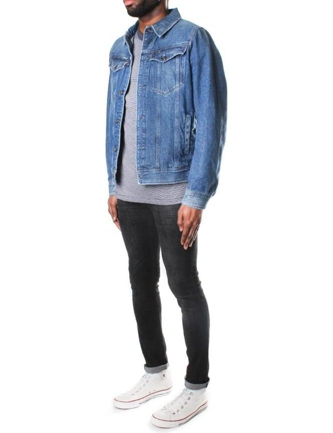2508c24148bc0 G-Star Raw Men's 3301 Deconstructed Tobe Denim 3D Slim Jacket