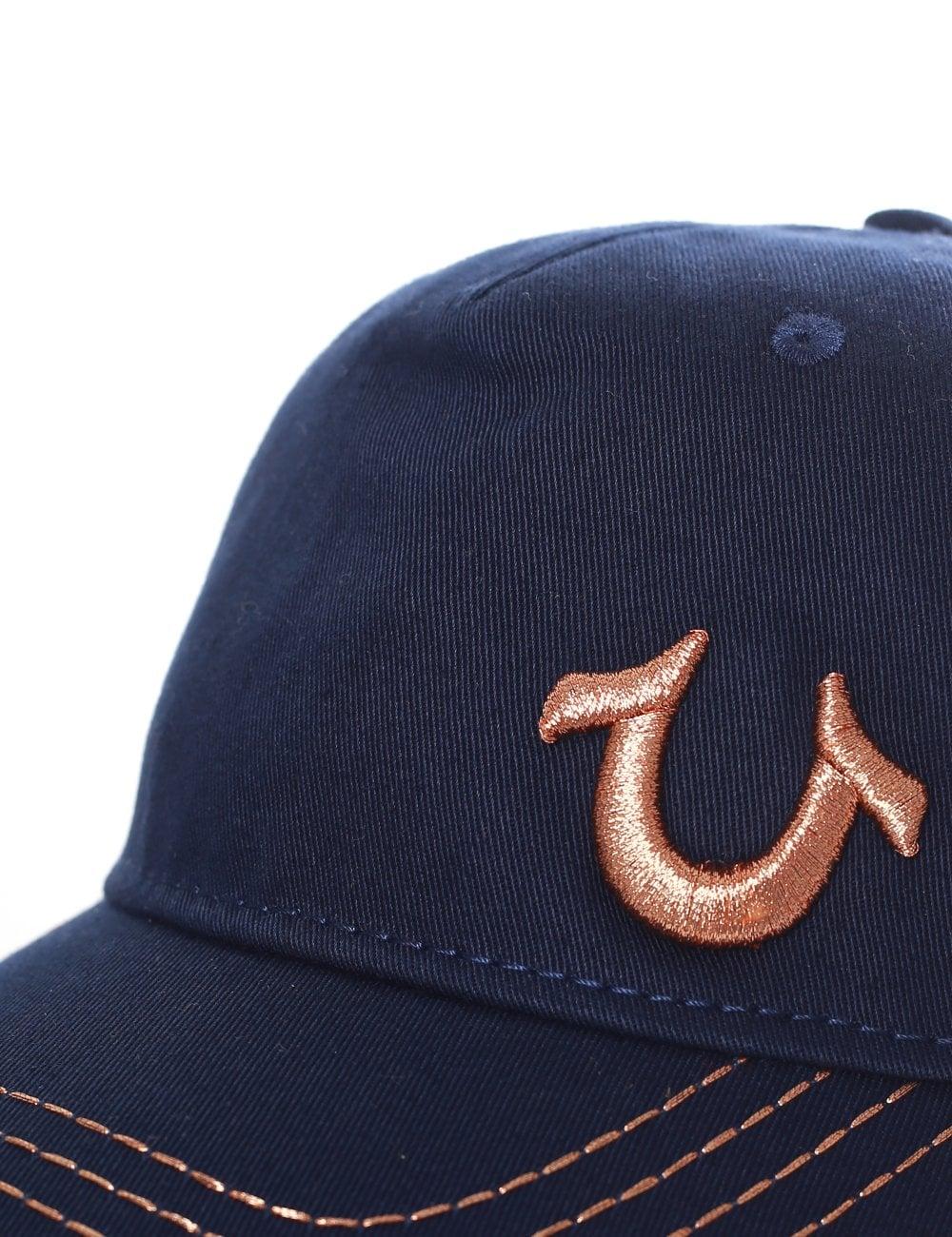 b0916069 True Religion Men's 3D Embroidered Horseshoe Cap