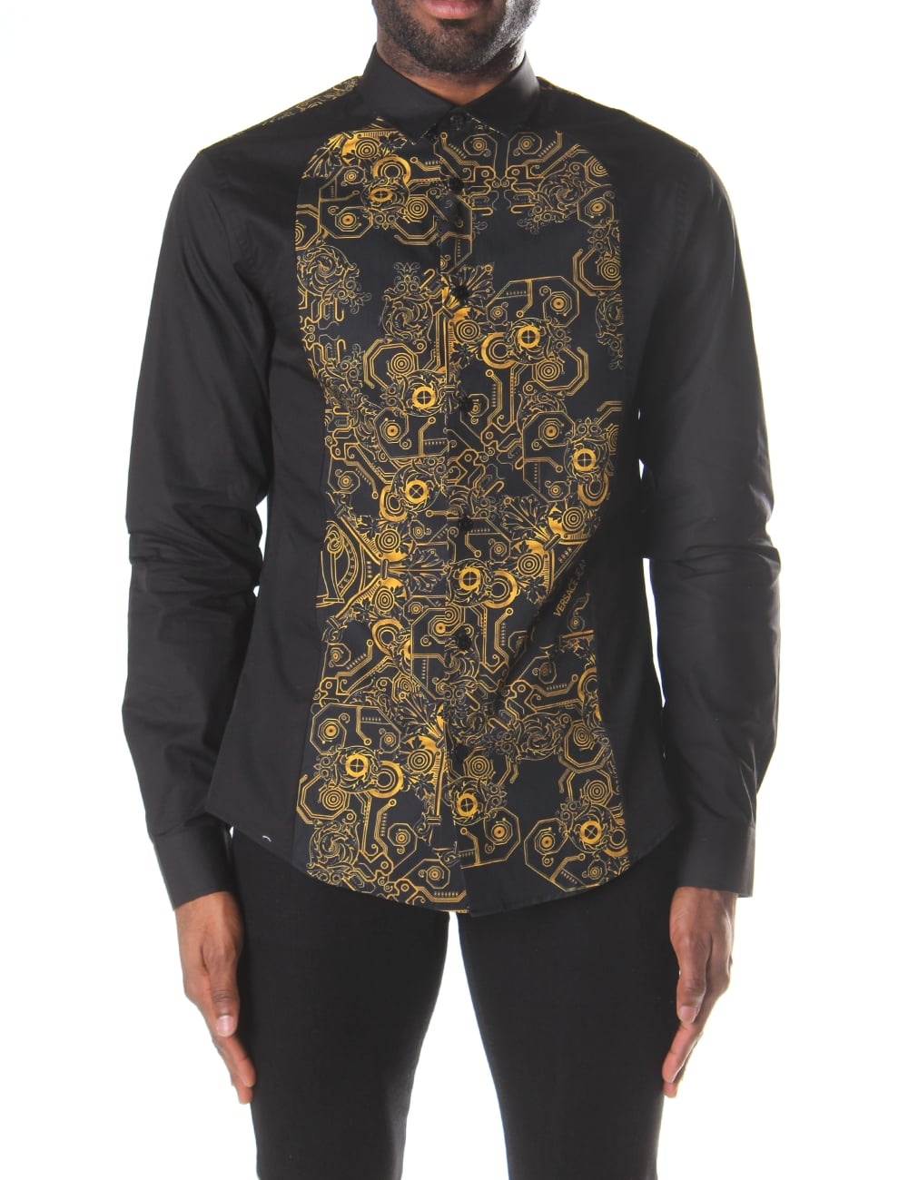 9c6537c824 Versace Jeans Men's Baroque Print Long Sleeve Shirt