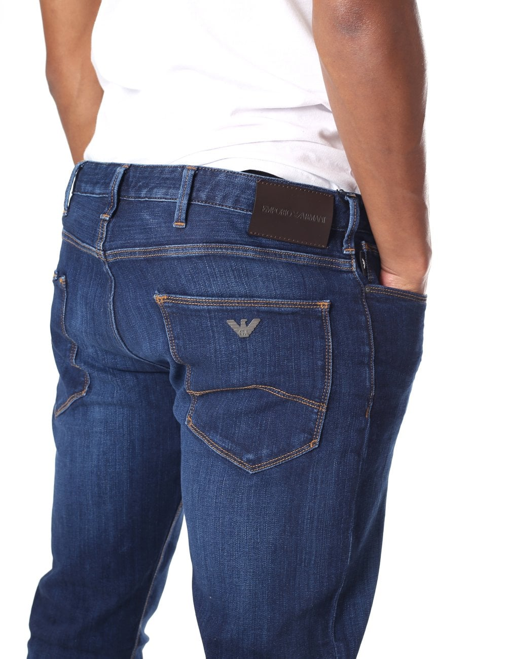 best authentic 609e4 40a67 Emporio Armani Men's Blue Denim Jean