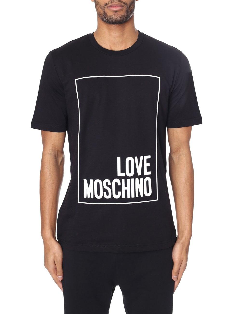 b82704252353a Love Moschino Men's Box Logo Tee
