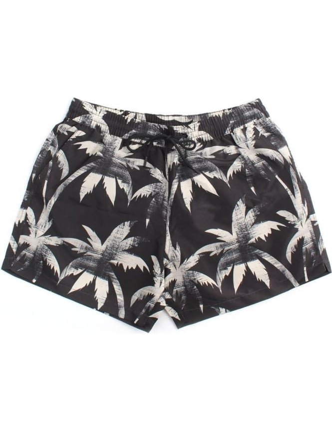 497537db1d Paul Smith Men's Classic Ink Palm Swim Shorts Black