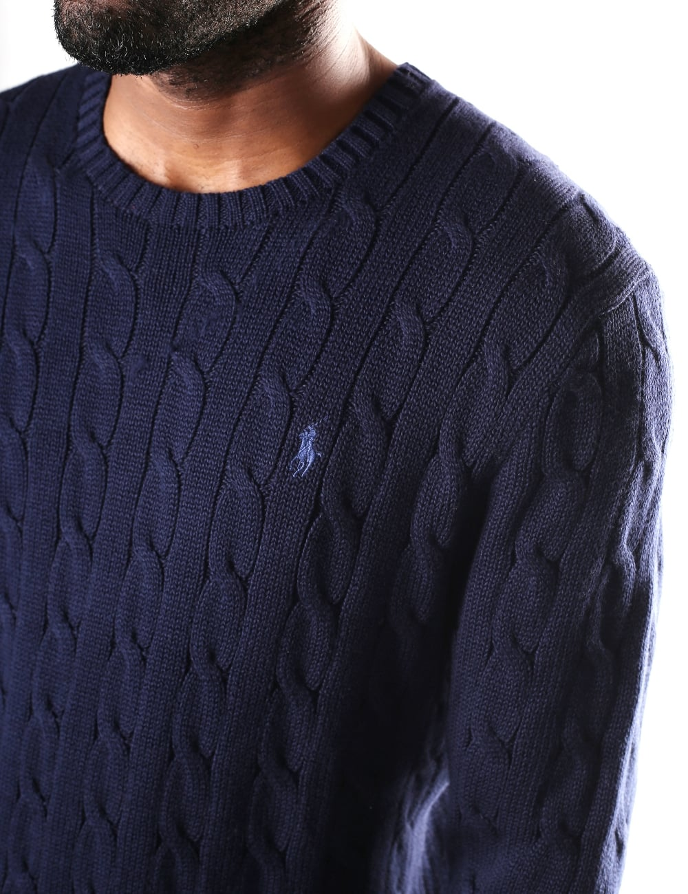 79eecf202db9b1 Polo Ralph Lauren Men's Crew Neck Cable Knit Jumper