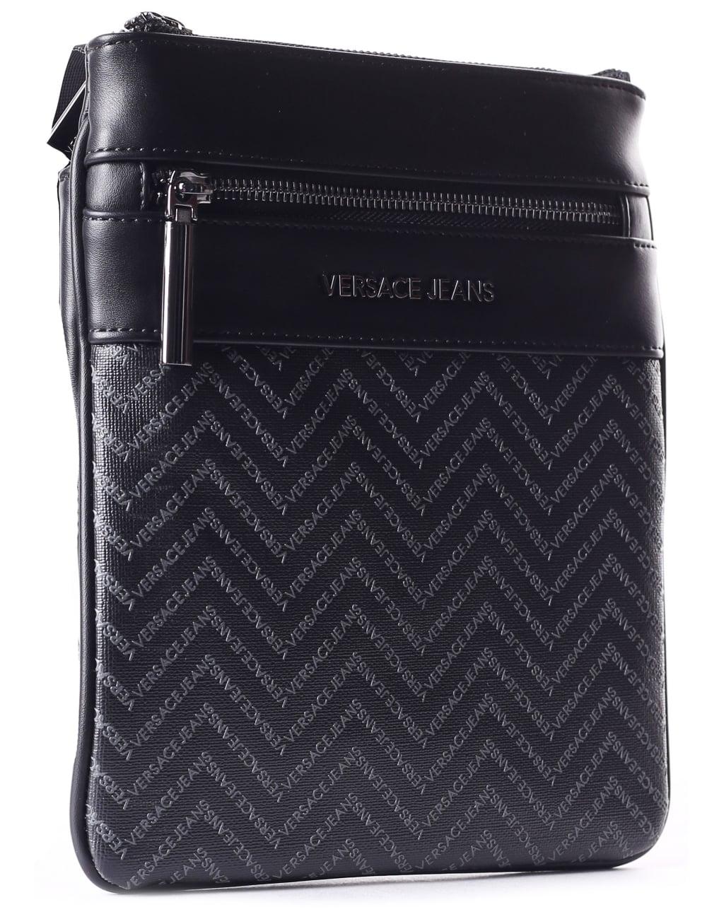 detailed look new varieties provide plenty of Versace Jeans Men's Crossbody Satchel Bag