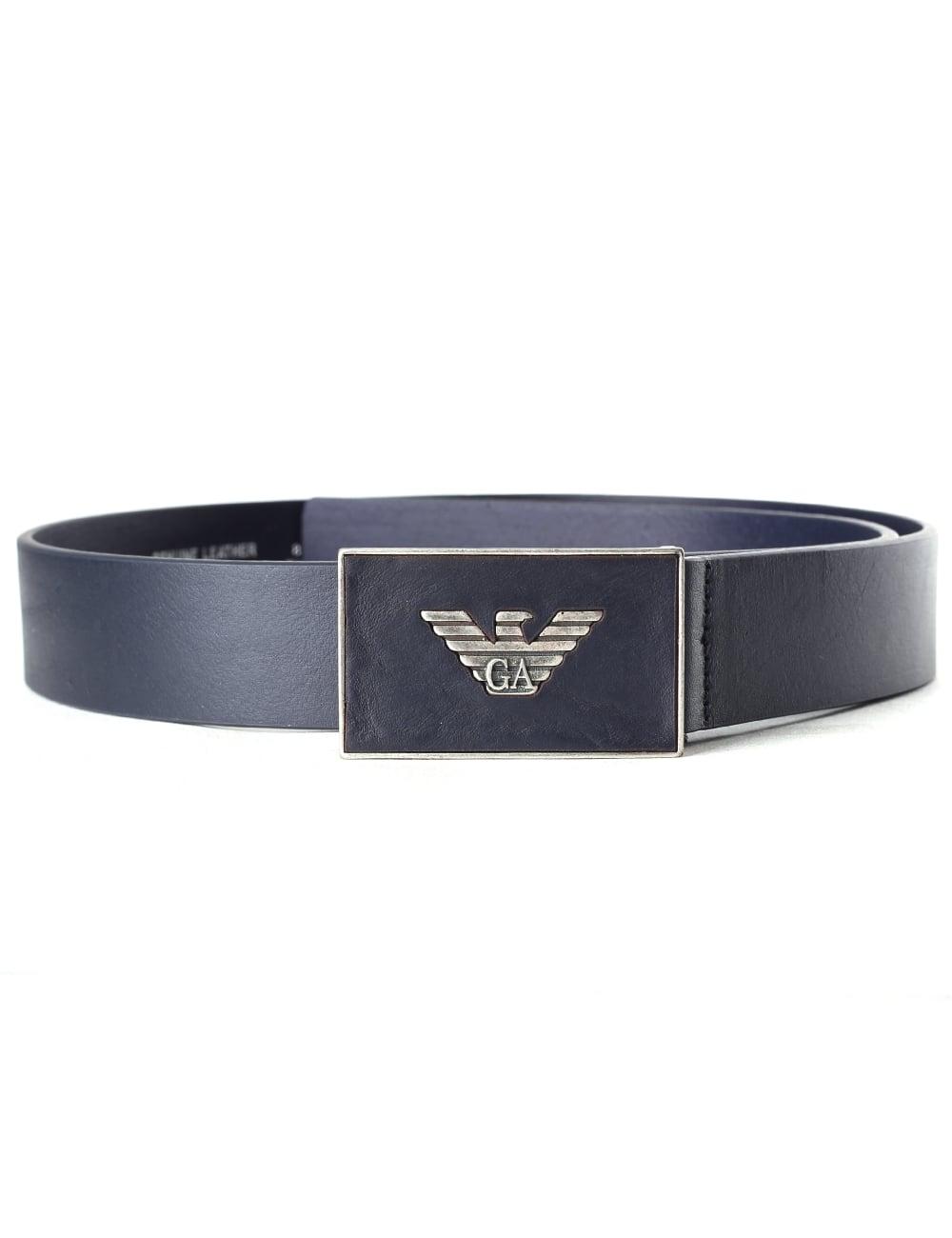 6ccdc10978 Emporio Armani Men's Eagle Buckle Belt