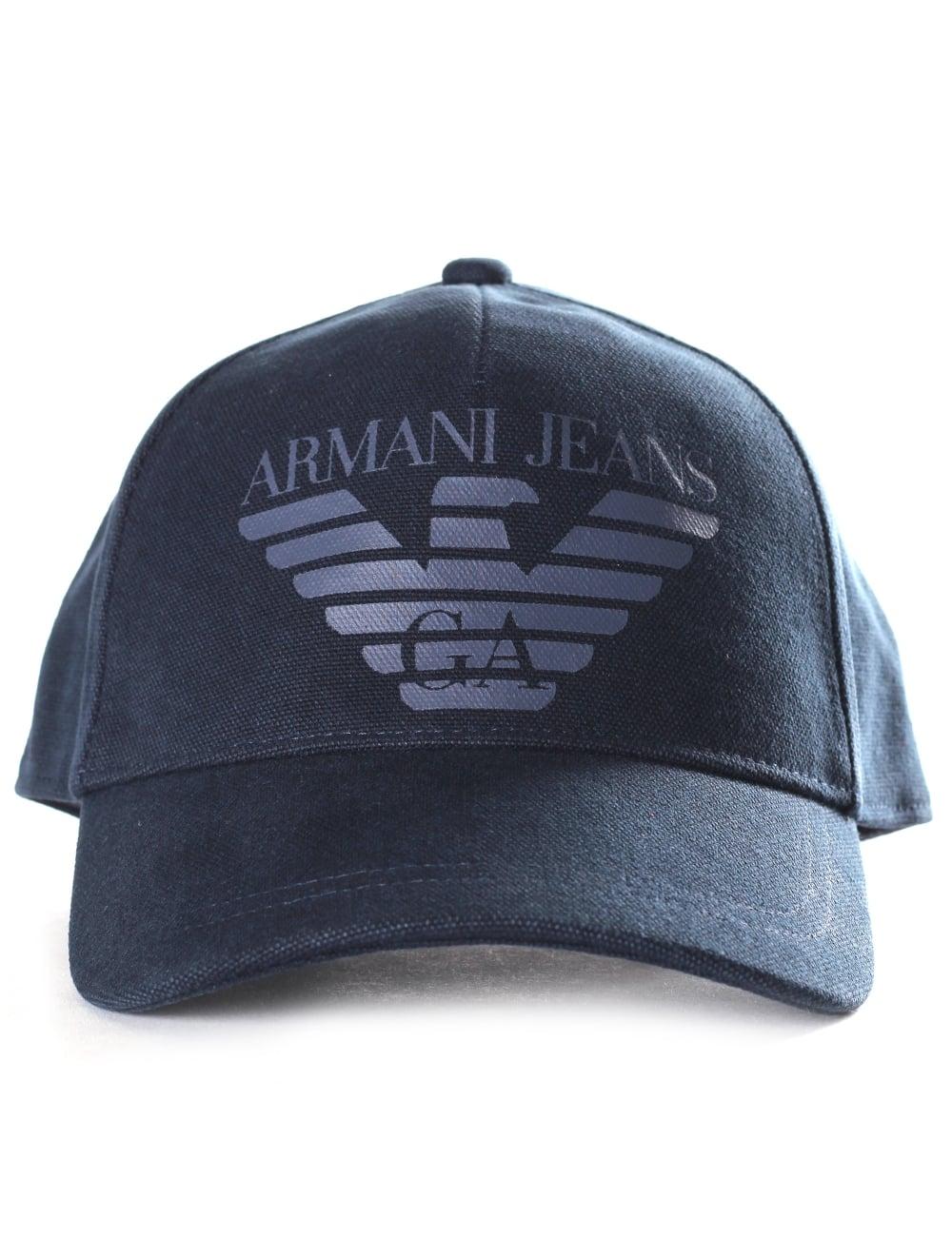 b9eca0a0e85627 Armani Jeans Men's Eagle Logo Baseball Cap