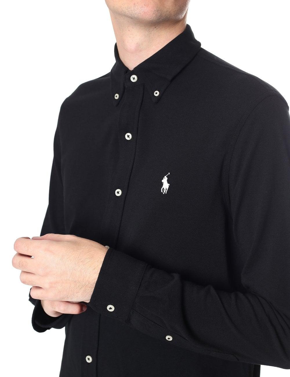 380880020 Polo Ralph Lauren Men s Featherweight Mesh Long Sleeve Polo Shirt