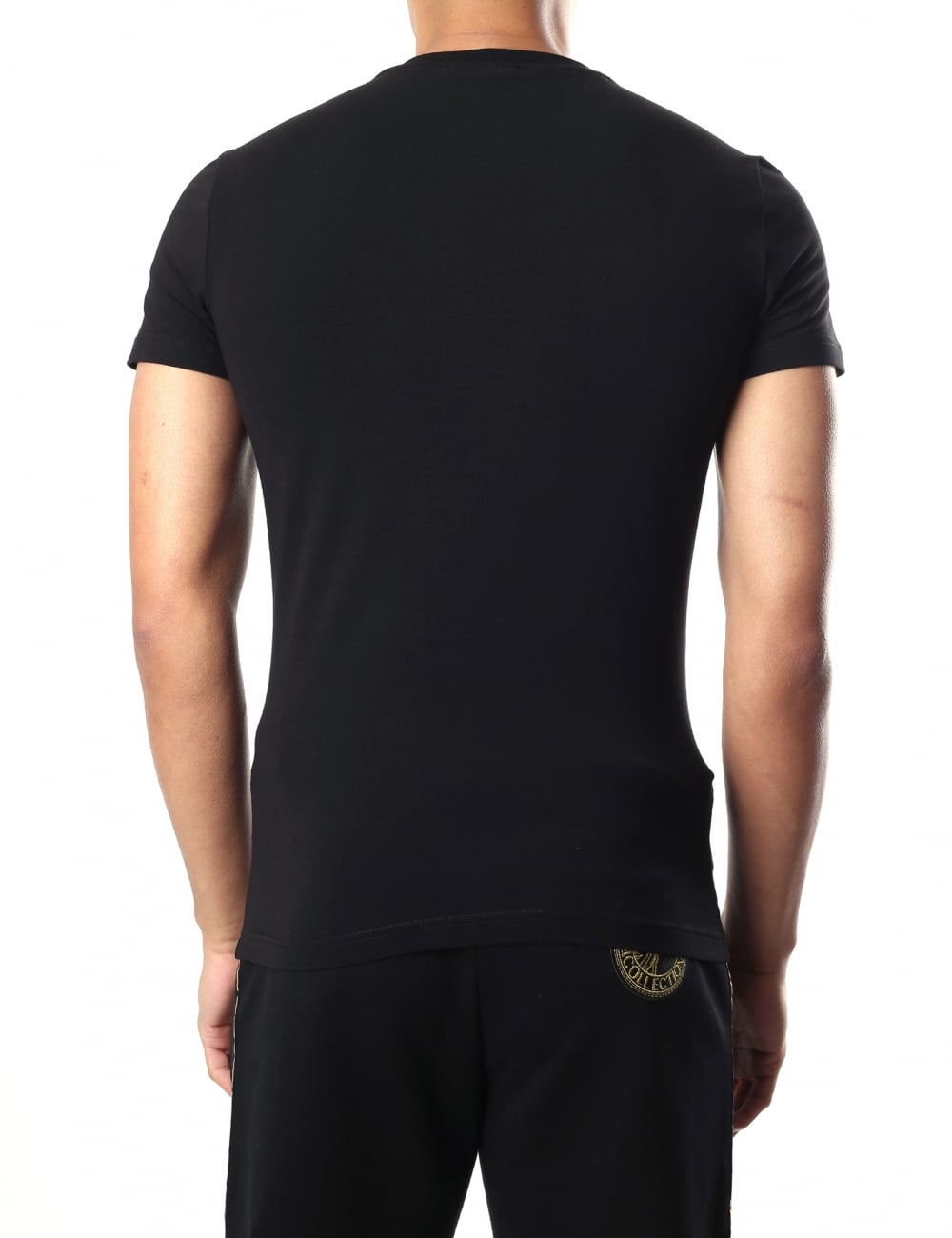 266a27217 Versace Jeans Men s Foil Print Crew Neck Short Sleeve T-Shirt