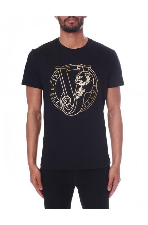 2ba22b6e Men's Foil VJ Logo Crew Neck Tee · Versace Jeans Men's Foil VJ ...