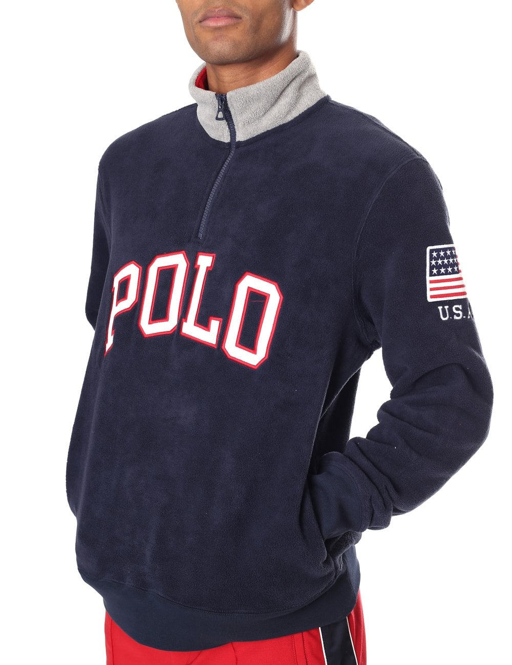 2223888298b747 Ralph Lauren Men's Half Zip Pullover Logo Fleece