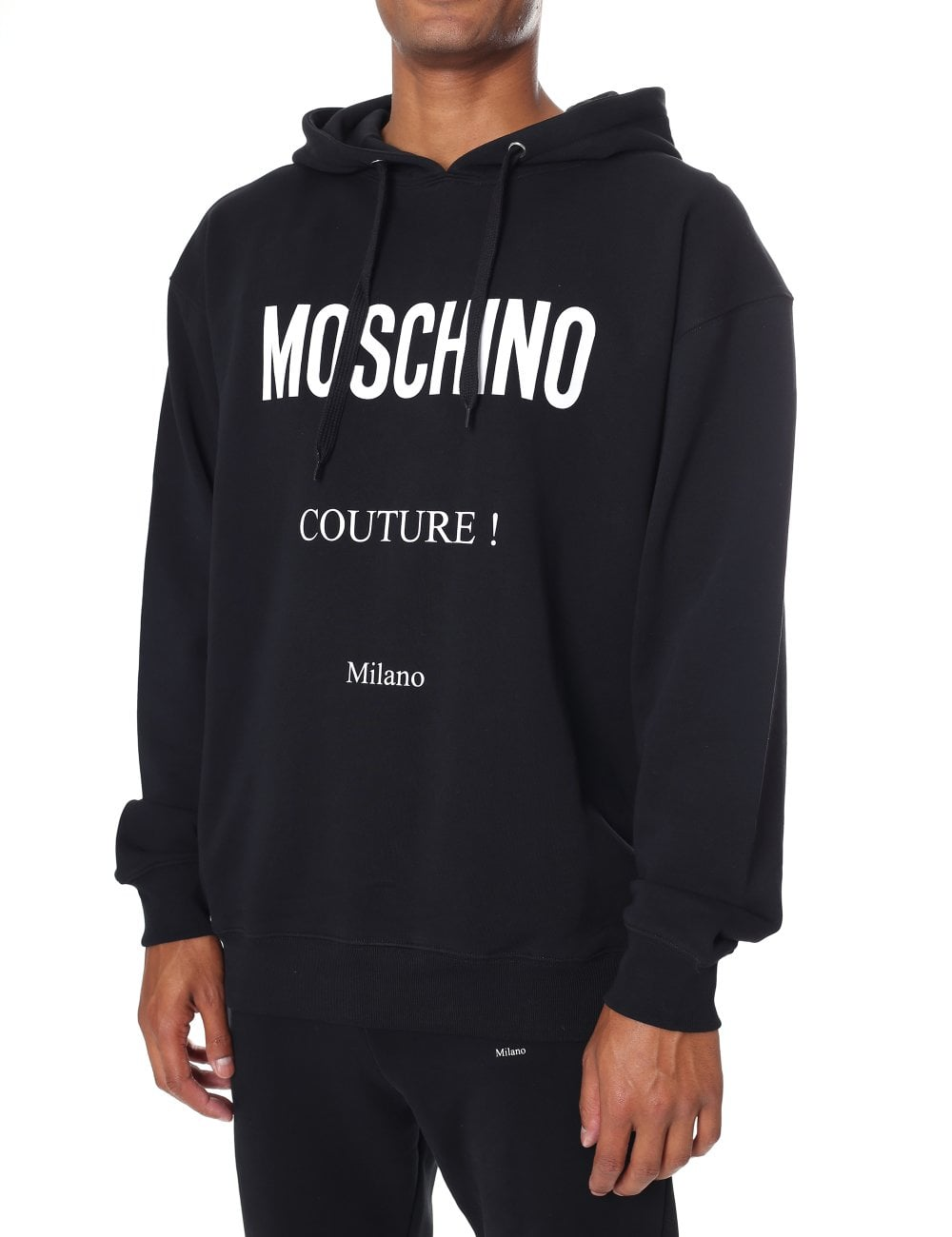 b1e36790ad Moschino Couture Men's Logo Hooded Pullover Sweat Top