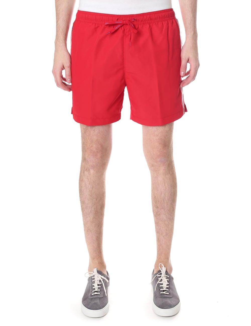 new concept 7a608 b52a2 Calvin Klein Men's Logo Tape Swim Shorts
