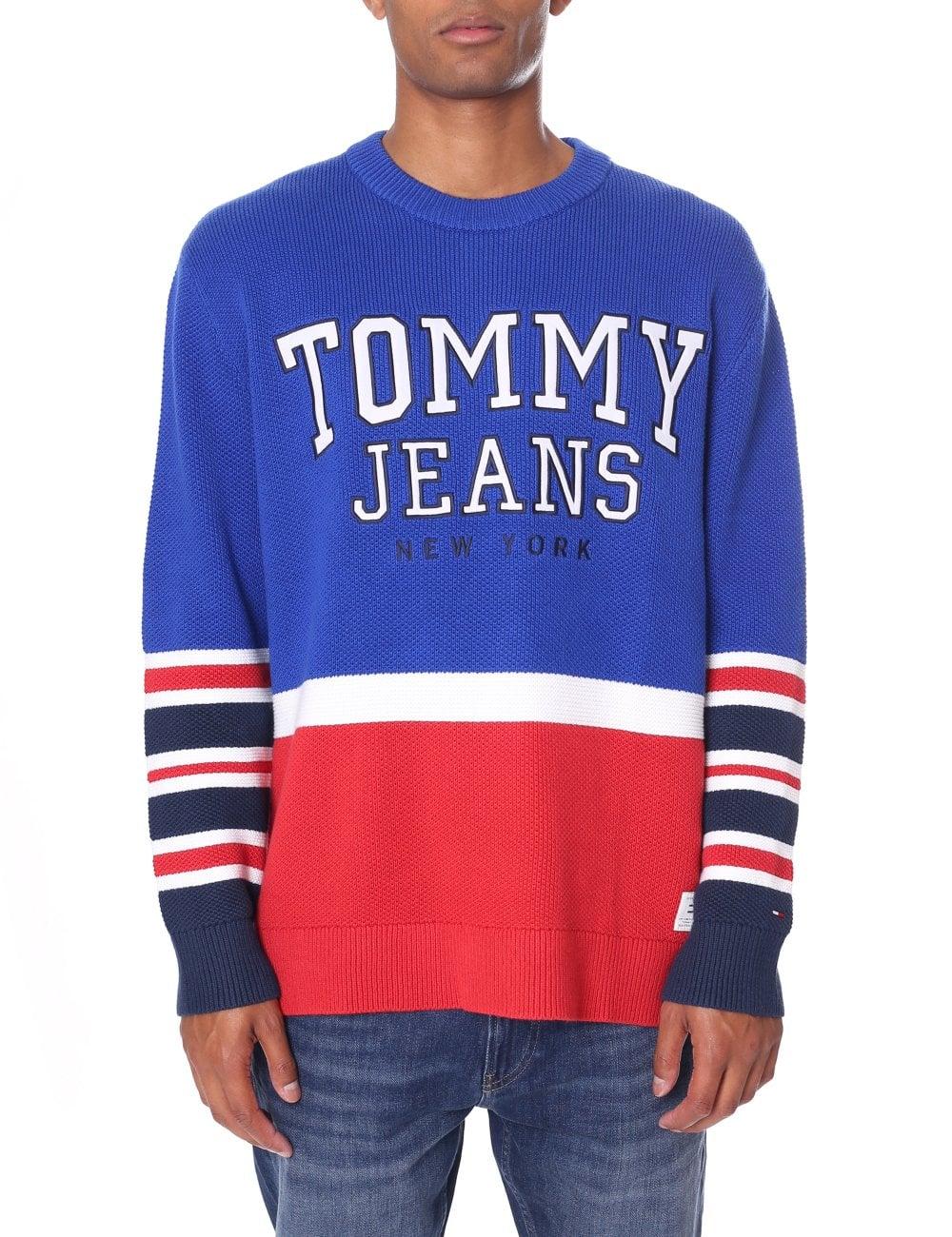 aee5815df26 Tommy Hilfiger Men's Long Sleeve Colourblock Knit