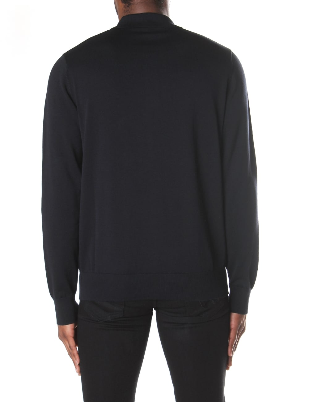 17140e35aaed Armani Jeans Men's Long Sleeve Knitted Polo Top