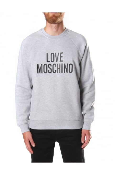 Men's Love Moschino Print Sweat Top