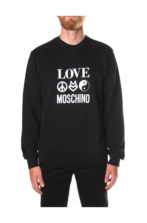 Men's Love Moschino Symbol Print Sweat Top