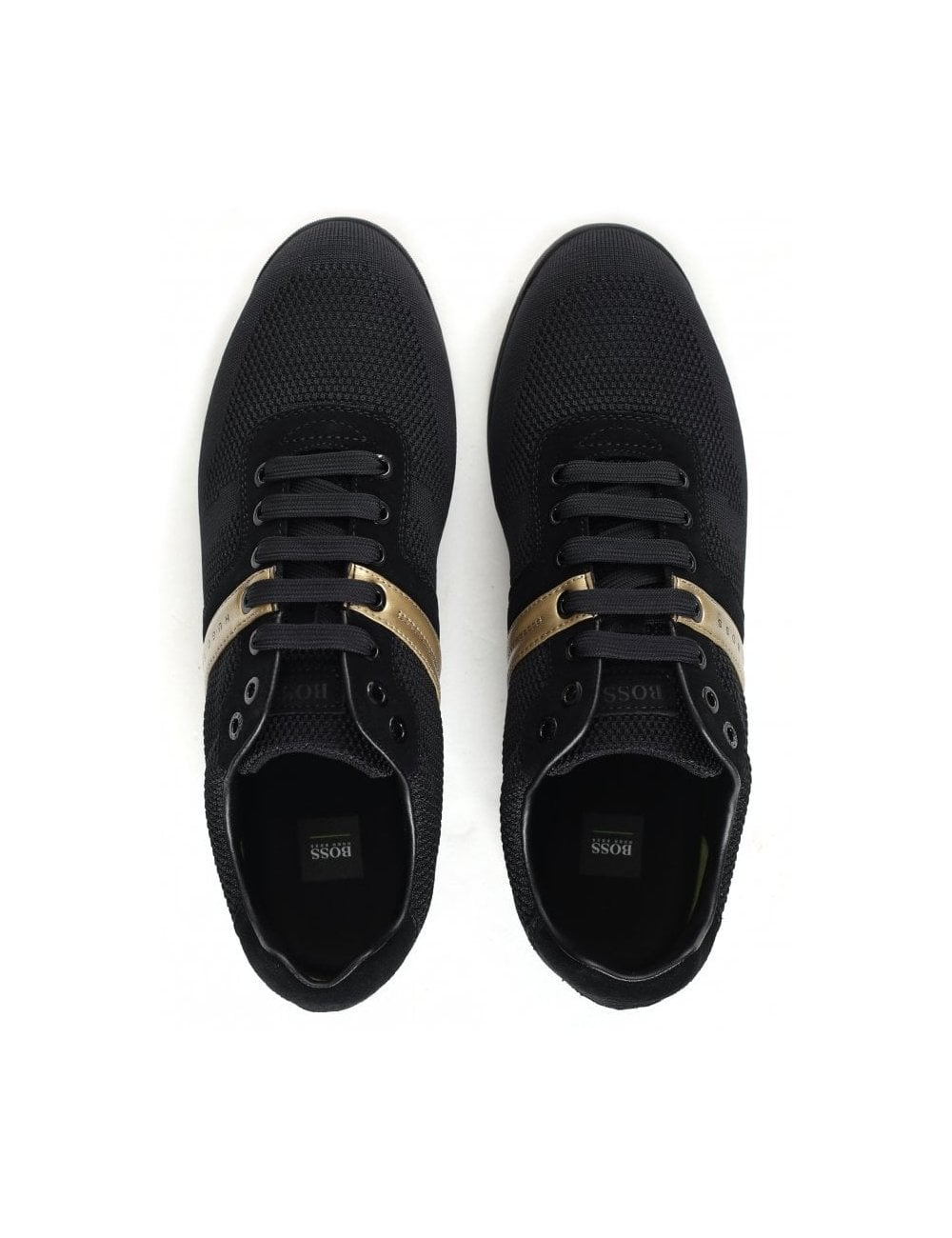 boss low top knit trainers