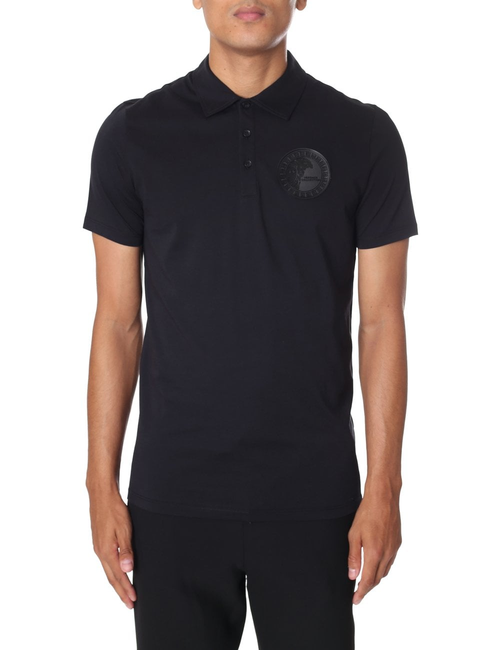 2211f13c Versace Collection Men's Medusa Badge Short Sleeve Polo Top