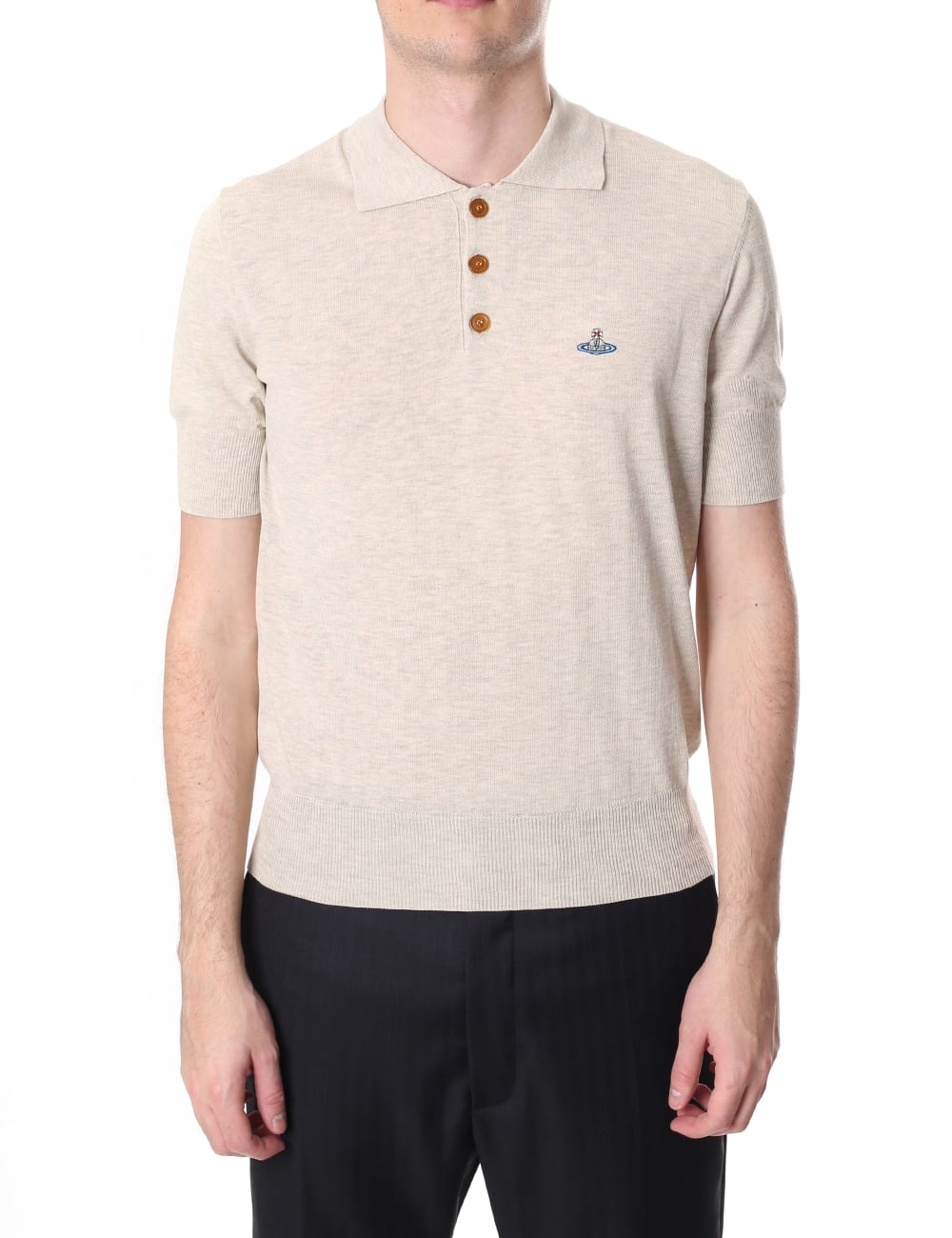 top fashion new specials many styles Vivienne Westwood Men's Orb Logo Short Sleeve Knitted Polo