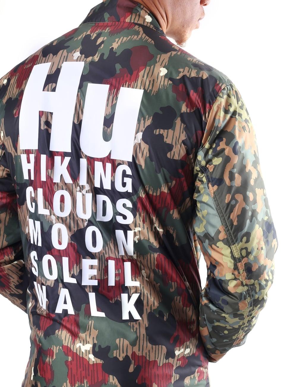 usa cheap sale best online ever popular Adidas Men's Pharrell Williams HU Hiking Camo Reversible Coach Jacket