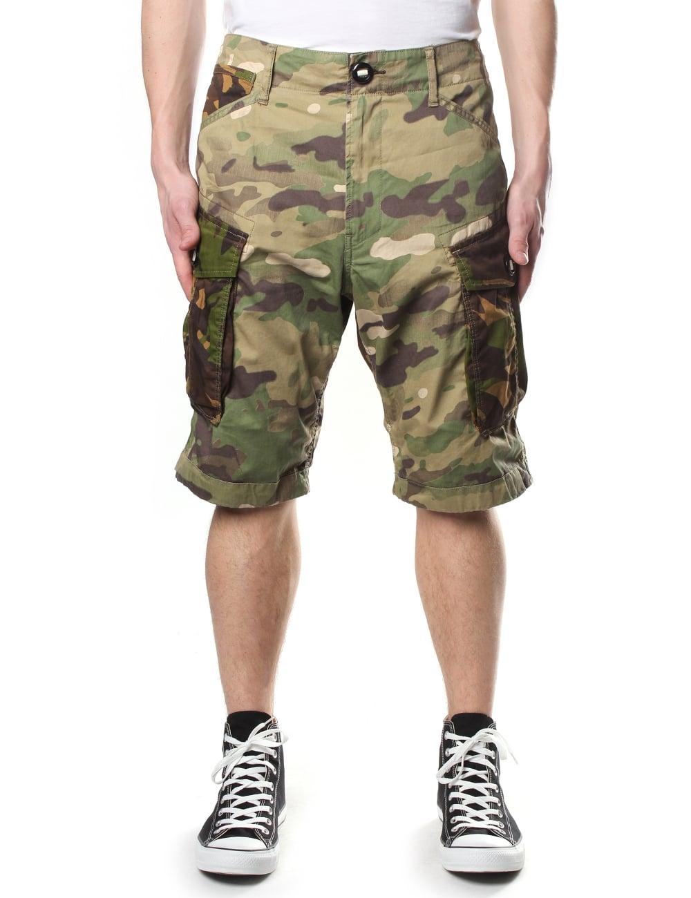 Topmoderne G-Star Raw Men's Rovic Loose 1/2 Length Premium Twill Shorts OT-51