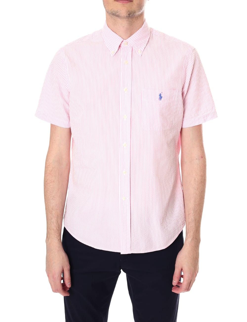 d1fa310bd Polo Ralph Lauren Men s Seersucker Short Sleeve Shirt