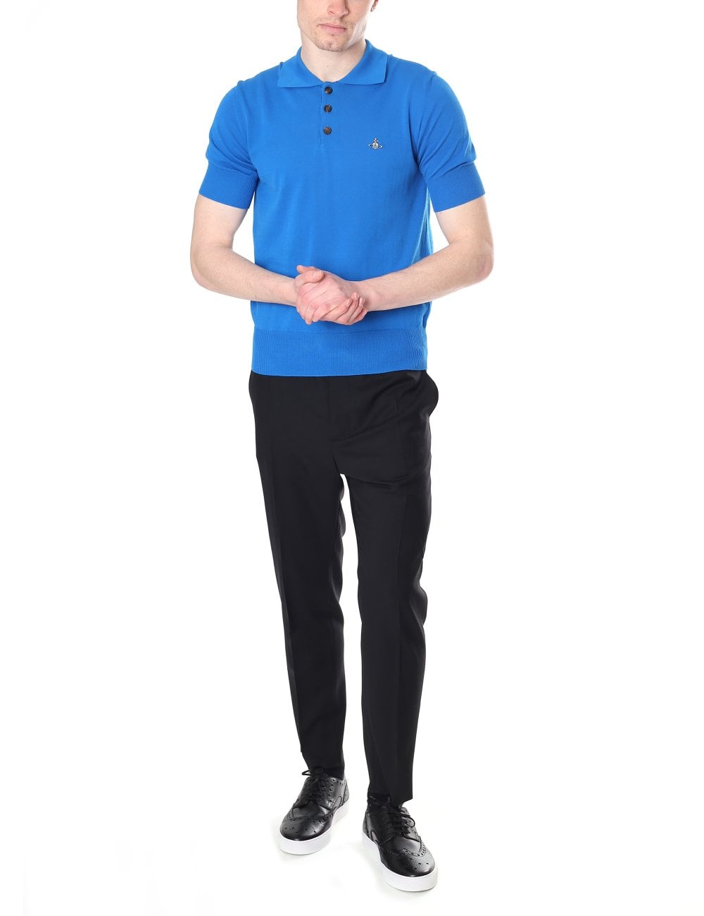 uk cheap sale top quality stable quality Vivienne Westwood Men's Short Sleeve Knitted Polo