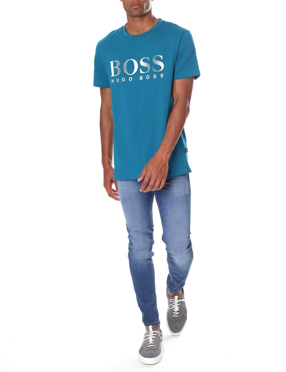 e708ccb15a Boss Black Men's Slim Fit Crew Neck Short Sleeve Tee