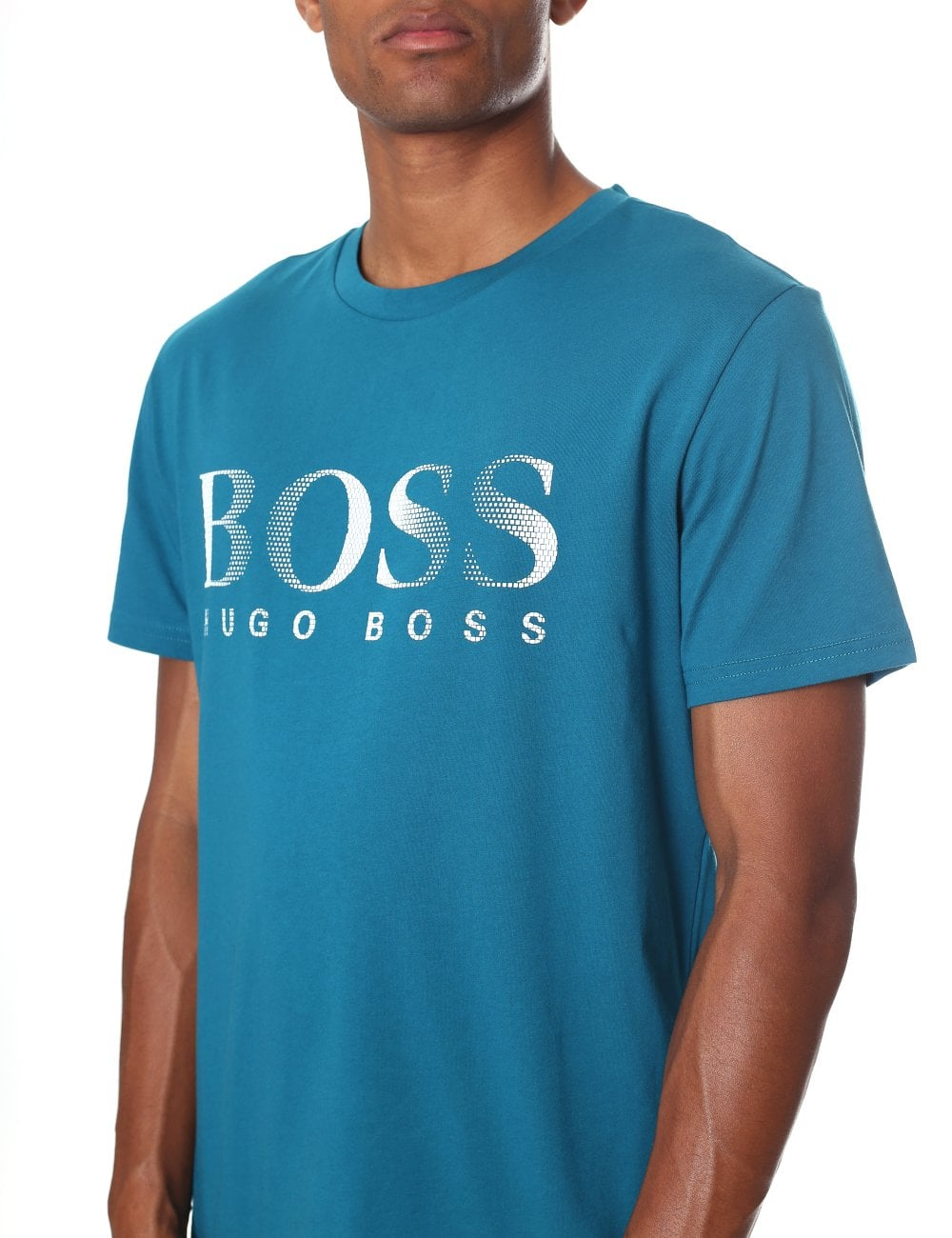 5c3ec4cbddf8 Boss Black Men's Slim Fit Crew Neck Short Sleeve Tee