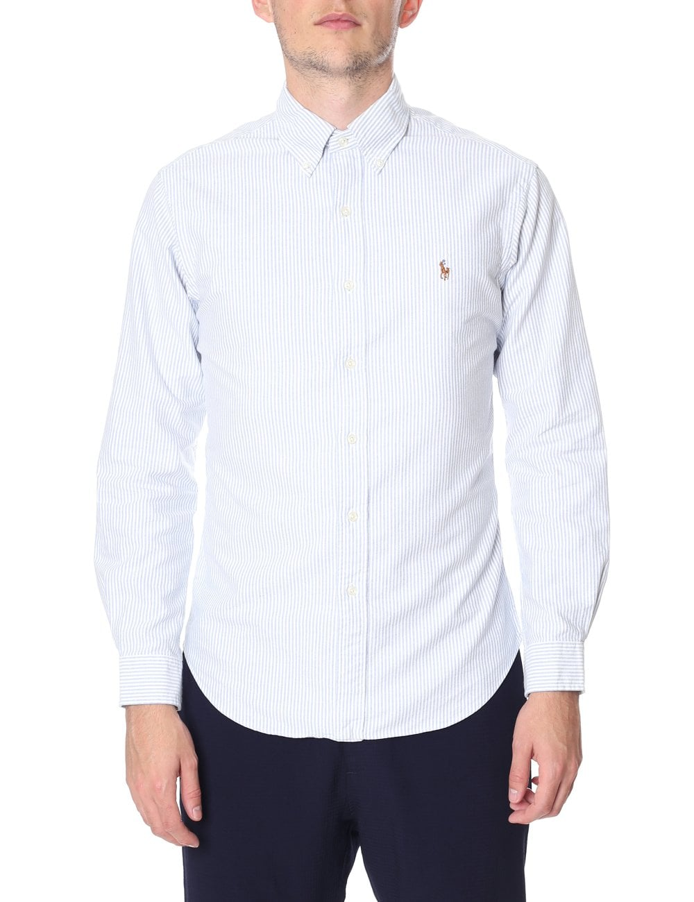 069ff5f4cf Polo Ralph Lauren Men's Slim Fit Stripe Long Sleeve Shirt