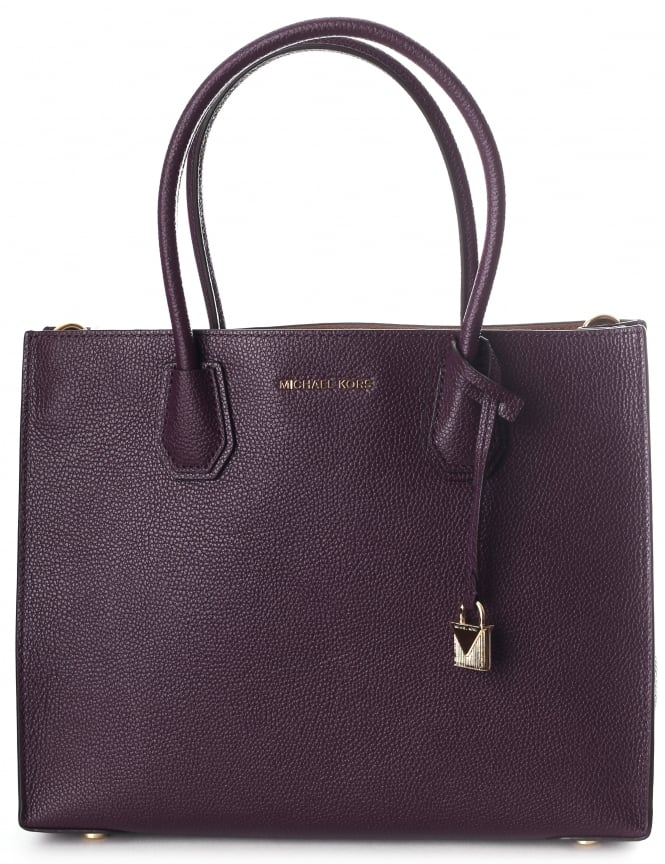 Michael Kors Mercer Bonded Leather Women S Large Tote Bag