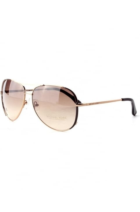 Aviator Women's Sunglasses Bronze