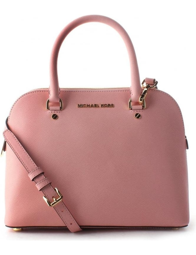 Michael Kors Cindy Women s Dome Satchel Pale Pink 3ae11adaf343b