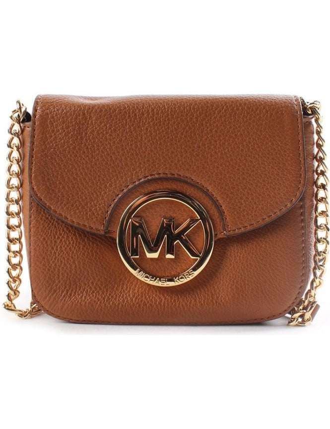 d531dd582bba Michael Kors Fulton Small Women's Crossbody Bag Light Brown