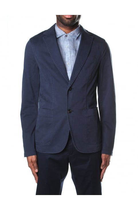 Garment Dye Men's Blazer Midnight