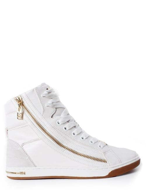 Michael Kors Glam Essex Women S High Top Trainer White