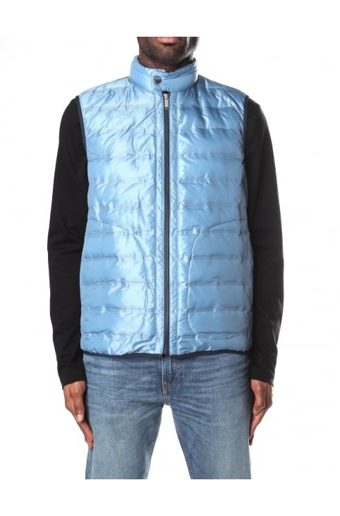 Heat Seal Men's Channel Gilet Blue Grey
