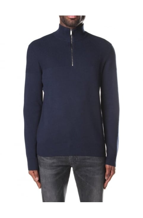 Honeycomb Men's Half Zip Pullover Knit