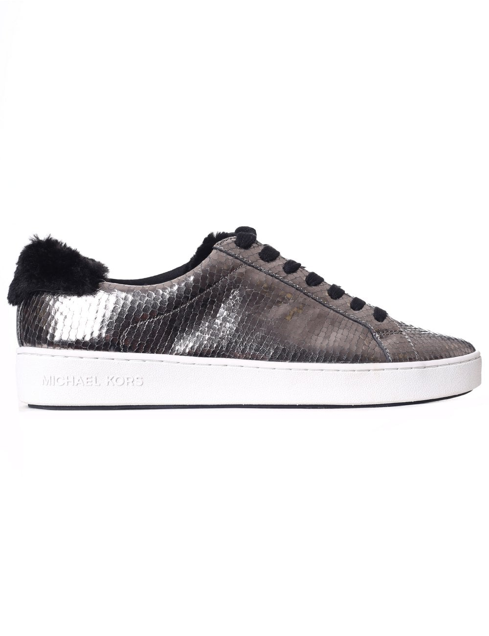 1a2bdd21bae Michael Kors Women s Irving Lace Up Trainer Arthracite