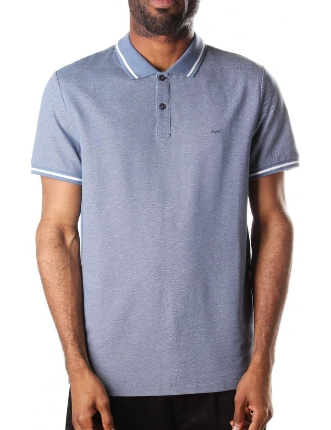 Michael Kors Men's Birdseye Polo Blue
