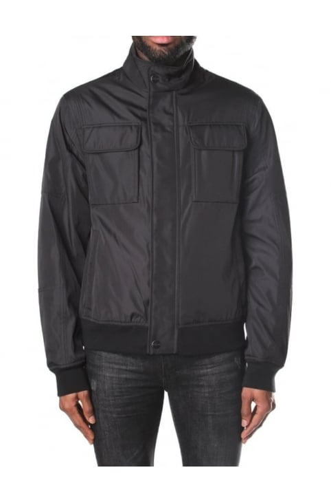 Men's Funnel Neck Hybrid Jacket Black