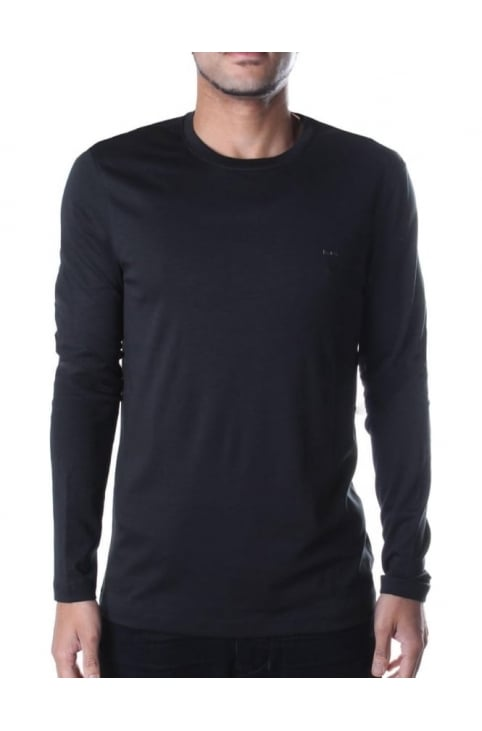 Men's Long Sleeve MK Crew Neck Tee Black