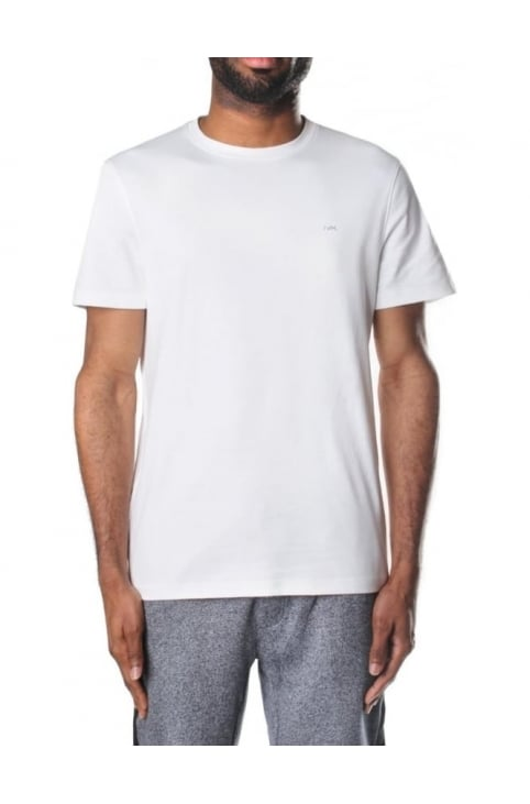 Men's Sleek MK Crew Neck Short Sleeve T-Shirt White
