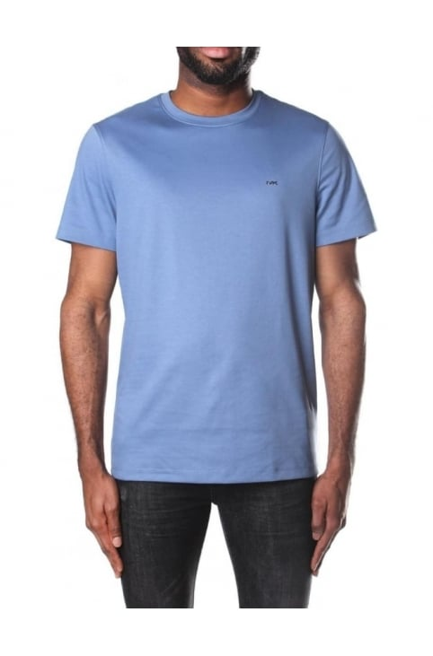 Men's Sleek MK Crew Neck Short Sleeve T-Shirt Slate Blue