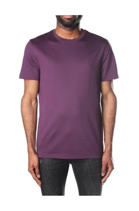 Men's Sleek MK Crew Neck Short Sleeve T-Shirt Blackberry